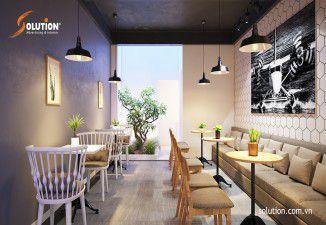 Thiết kế nội thất quán Cafe Take away EFFOC Bạch Mai Hà Nội