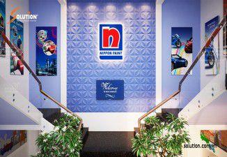 Thiết kế thi công sảnh nhà máy sơn NIPPON