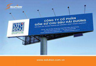 Thiết kế biển quảng cáo Công ty Cổ phần Gốm sứ Chu Đậu