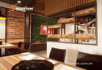Thiết kế và thi công nội thất nhà hàng Ô Lẩu