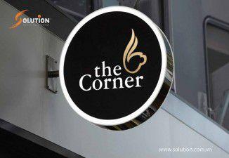 Thiết kế và Thi công biển quảng cáo quán Cafe The Corner