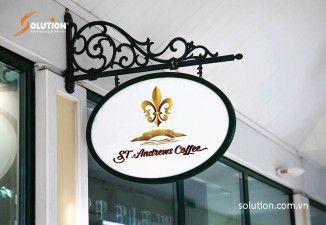 Thiết kế biển quảng cáo ST Andrews Coffee