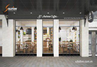 Thi công nội thất quán St Andrews Coffee