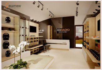 Thiết kế nội thất Showroom HDradio Việt Nam