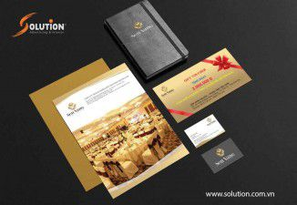 Thiết kế bộ Sales kit trung tâm tiệc cưới Sen Vàng