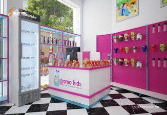 Thiết kế nội thất hệ thống siêu thị mẹ và bé Momo Kids
