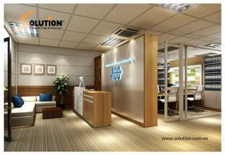 Thiết kế nội thất văn phòng công ty CP Tập đoàn Quốc tế ABC (Tầng 2)