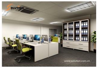 Thiết kế nội thất văn phòng Công ty CP Tập đoàn Quốc tế ABC (Tầng 3)