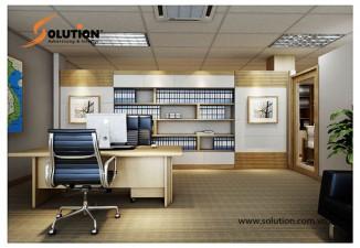 Thiết kế nội thất văn phòng Công ty CP Tập đoàn Quốc tế ABC (Tầng 4)