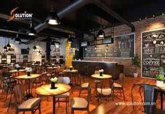 Thiết kế nội thất quán cafe Sumida