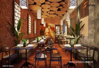 Thiết kế nội thất nhà hàng LeFusion 12A Hàng Than