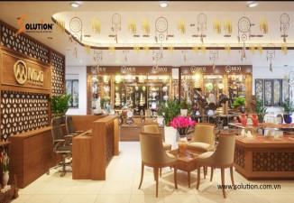 Thiết kế nội thất showroom công ty CP phong thủy Mixi