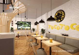Thiết kế nội thất quán trà sữa Tocotoco Bắc Giang