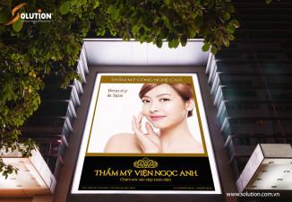 Thiết kế biển quảng cáo ngoài trời Thẩm mỹ viện Ngọc Anh