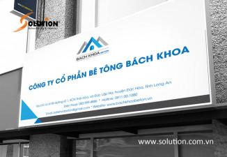 Thiết kế biển hiệu quảng cáo Bách Khoa Beton