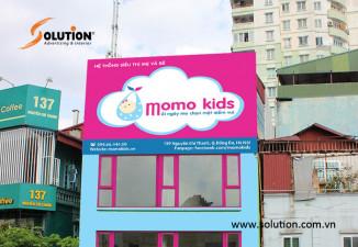 Thiết kế thi công biển quảng cáo hệ thống siêu thị Momo Kids
