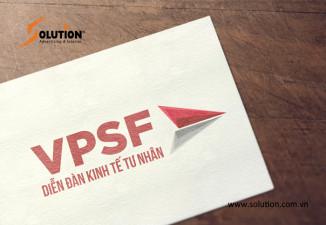 Thiết kế standee, tờ gấp Diễn đàn Kinh tế Tư nhân VPSF