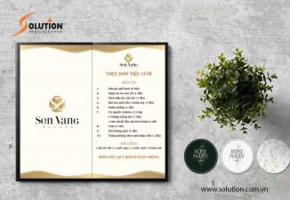 Thiết kế Menu, voucher Trung tâm hội nghị tiệc cưới Sen Vàng PaLaCe