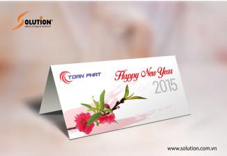 Thiết kế lịch bàn, thiệp chúc mừng, lì xì công ty Toàn Phát
