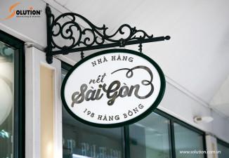 Thiết kế biển vẫy nhà hàng Nét Sài Gòn