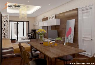 Thiết kế  nội thất nhà ở chung cư cao cấp Vinhomes Royal City