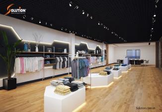 Thiết kế showroom trưng bày sản phẩm may PANCIFIC