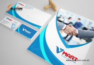 Thiết kế logo Vmart - Đôi cánh không mỏi