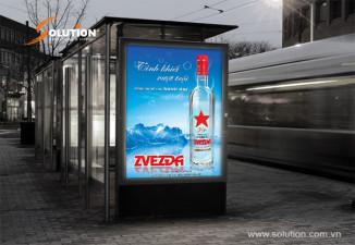 Thiết kế biển quảng cáo ngoài trời VODKA ZVEZĐA