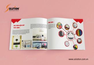 Thiết kế Brochure công ty CP Khoáng sản Công nghiệp Yên Bái YBM