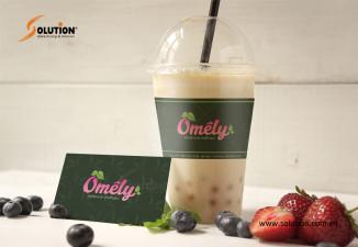 Thiết kế bộ nhận diện thương hiệu quán trà sữa Omely
