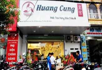 Thiết kế biển quảng cáo ngoài trời quán trà sữa Huang Cung