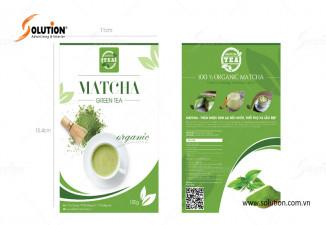 Thiết kế bao bì nhãn mác sản phẩm Matcha Tân Cương