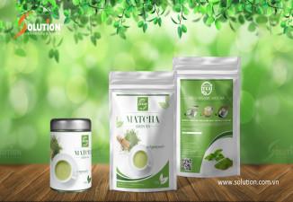 Thiết kế bao bì nhãn mác sản phẩm trà xanh Tân Cương