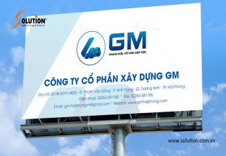 Thiết kế biển hiệu công ty xây dựng GM