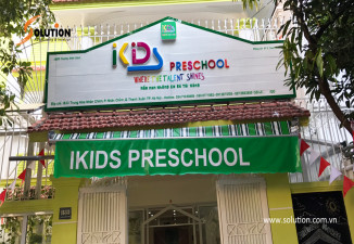 Thiết kế, thi công biển quảng cáo trường học IKIDS