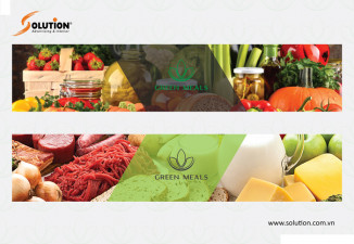 Thiết kế bộ nhận diện thương hiệu công ty Green Meals