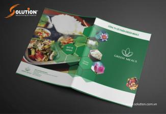 Thiết kế catalogue công ty suất ăn công nghiệp Green Meals