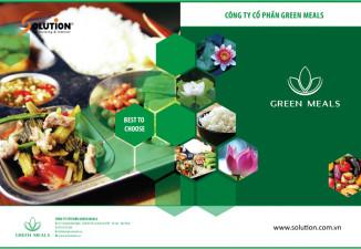 THIẾT KẾ BÔ SALES KIT CÔNG TY SUẤT ĂN CÔNG NGHIỆP GREEN MEALS