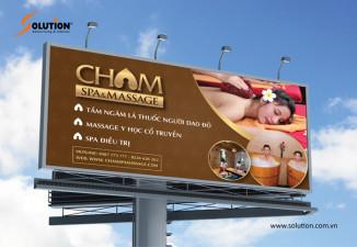 Thiết kế biển quảng cáo CHAM SPA