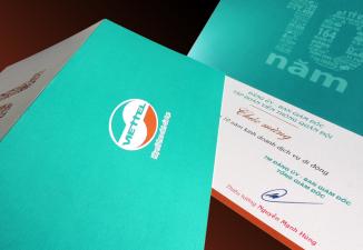 Thiết kế thiệp chúc mừng Tập đoàn viễn thông quân đội Viettel