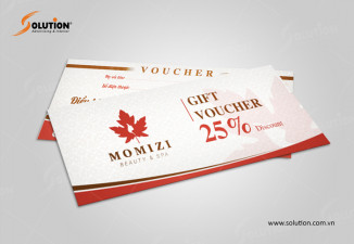 Thiết kế voucher Spa MOMIZI