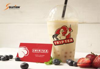 Thiết kế bộ nhận diện thương hiệu quán trà sữa Trip Tea