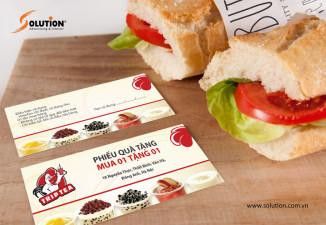 Thiết kế voucher nhà hàng, quán fast food, quán trà sữa, quán kem