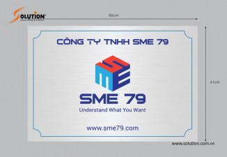 Thiết kế biển hiệu, biển quảng cáo công ty SME 79