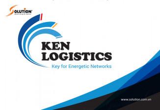 Thiết kế logo công ty KEN LOGISTICS Những cung đường màu xanh