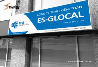 Thiết kế biển quảng cáo ngoài trời công ty kiểm toán ES GLOCAL