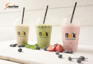 Thiết kế cốc trà sữa phong cách BUK Hải Phòng