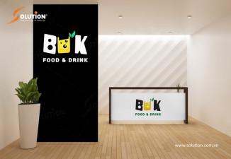 Thiết kế bộ nhận diện quán trà sữa, cafe BUK Food & Drink Hải Phòng
