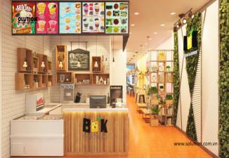 Thiết kế Menu, poster, vẽ tranh tường quán trà sữa BUK Hải Phòng
