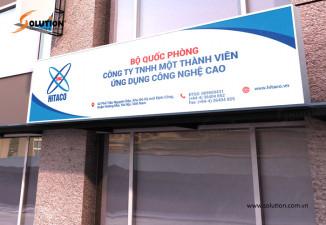 Thiết kế biển quảng cáo công ty công nghệ cao HiTACO